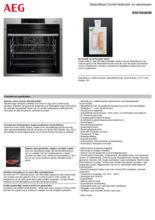 Product informatie AEG oven inbouw rvs BSE788280M