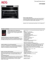 Product informatie AEG oven inbouw rvs KPE748280M