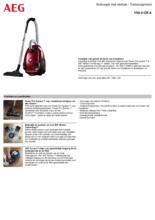 Product informatie AEG stofzuiger rood VX6-2-CR
