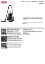 Product informatie AEG stofzuiger zwart VX7-2-DOG