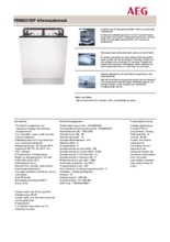 Product informatie AEG vaatwasser inbouw F55602VI0P