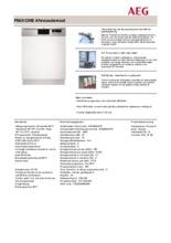 Product informatie AEG vaatwasser inbouw F56312IM0