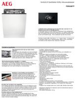 Product informatie AEG vaatwasser inbouw FSE63807P