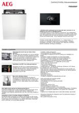 Product informatie AEG vaatwasser inbouw FSE83838P