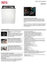 Product informatie AEG vaatwasser inbouw FSK73737P