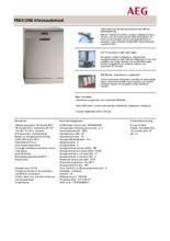 Product informatie AEG vaatwasser rvs F56312M0