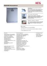 Product informatie AEG vaatwasser rvs F56322M0