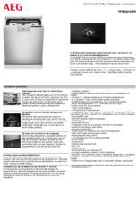 Product informatie AEG vaatwasser rvs FFB83816PM