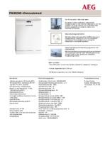 Product informatie AEG vaatwasser wit F56302W0