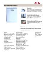 Product informatie AEG vaatwasser wit F56322W0