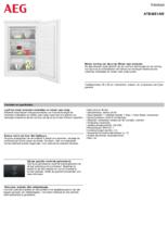 Product informatie AEG vrieskast ATB48E1AW