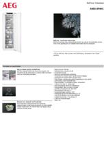 Product informatie AEG vrieskast inbouw ABE818F6NC