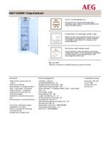Product informatie AEG vrieskast wit A62710GNW1