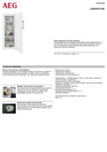 Product informatie AEG vrieskast wit AGB422F1AW