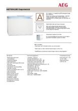 Product informatie AEG vrieskist wit A62700HLW0