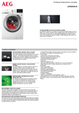 Product informatie AEG wasmachine L6FBBERLIN