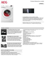 Product informatie AEG wasmachine L6FBKIEL+