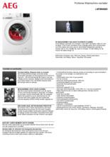 Product informatie AEG wasmachine L6FBN8600