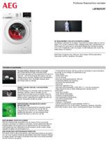 Product informatie AEG wasmachine L6FBSPORT