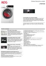 Product informatie AEG wasmachine L7FBSTEAM