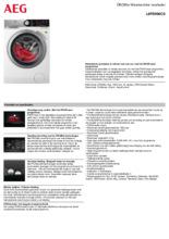 Product informatie AEG wasmachine L8FEN96CS