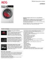 Product informatie AEG wasmachine L8FENS94E