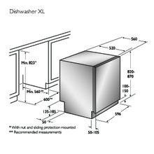 Product informatie ASKO vaatwasser inbouw D5554 Fi XL