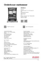 Product informatie ASKO vaatwasser onderbouw rvs DBI644IG.S