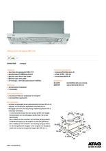 Product informatie ATAG afzuigkap vlakscherm WV60211AM