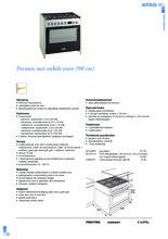 Product informatie ATAG fornuis rvs-matzwart FG9070EA