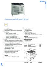 Product informatie ATAG fornuis rvs FG1011DA