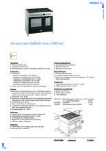 Product informatie ATAG fornuis matzwart / rvs FG1070DA
