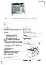 Product informatie ATAG fornuis rvs FG1211DA