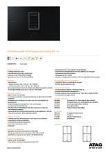 Product informatie ATAG inductie kookplaat met afzuiging zwart HIDD8471EV