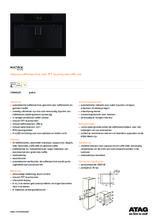 Product informatie ATAG koffiemachine grafiet CM4692D