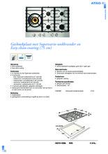 Product informatie ATAG kookplaat inbouw HG7511EBA