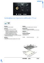 Product informatie ATAG kookplaat inbouw HG7592EBA