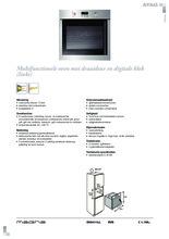 Product informatie ATAG oven inbouw OX6411LL