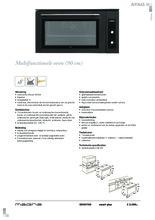 Product informatie ATAG oven inbouw grafiet OX9570G