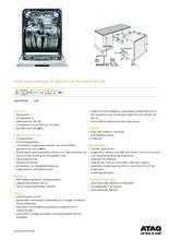 Product informatie ATAG vaatwasser onderbouw rvs DW7114OXB