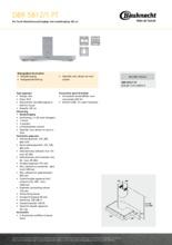 Product informatie BAUKNECHT afzuigkap DBR5812/1PT