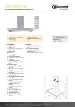 Product informatie BAUKNECHT afzuigkap DBR5890/01PT