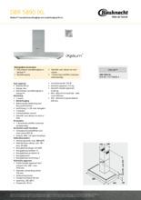 Product informatie BAUKNECHT afzuigkap DBR5890IXL