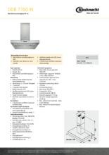 Product informatie BAUKNECHT afzuigkap DDB7760IN