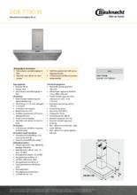 Product informatie BAUKNECHT afzuigkap DDB7790IN