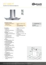 Product informatie BAUKNECHT afzuigkap DST5490PT