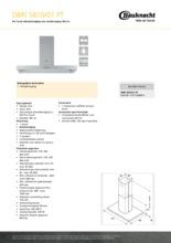 Product informatie BAUKNECHT afzuigkap eiland DBRI5810/01PT