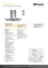Product informatie BAUKNECHT afzuigkap eiland DSTI5410PT