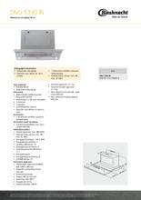 Product informatie BAUKNECHT afzuigkap vlakscherm DNG5390IN