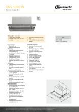 Product informatie BAUKNECHT afzuigkap vlakscherm DNV5390IN